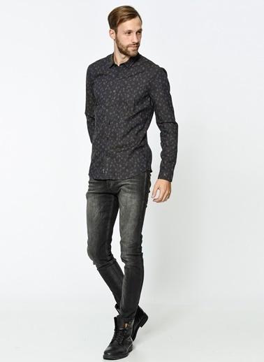 Uzun Kollu Gömlek-Mavi